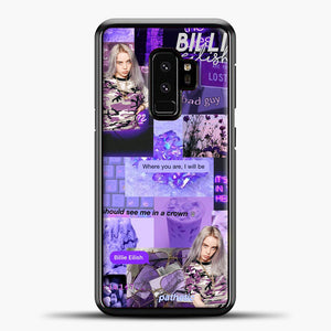 Billie Eilish ItS All In Your Head Purple Samsung Galaxy S9 Case, Black Plastic Case | casedilegna.com