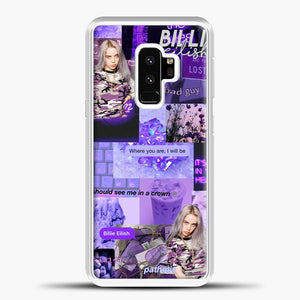 Billie Eilish ItS All In Your Head Purple Samsung Galaxy S9 Case, White Plastic Case | casedilegna.com