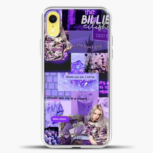 Billie Eilish ItS All In Your Head Purple iPhone XR Case, White Plastic Case | casedilegna.com