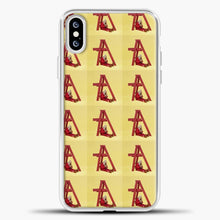 Load image into Gallery viewer, Billie Eilish Logo iPhone XS Case, White Plastic Case | casedilegna.com