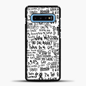 Billie Eilish Lyrics Bad Guy White Samsung Galaxy S10 Case, Black Plastic Case | casedilegna.com