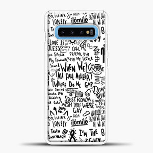 Billie Eilish Lyrics Bad Guy White Samsung Galaxy S10 Case, White Plastic Case | casedilegna.com