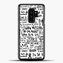 Load image into Gallery viewer, Billie Eilish Lyrics Bad Guy White Samsung Galaxy S9 Plus Case, Black Plastic Case | casedilegna.com