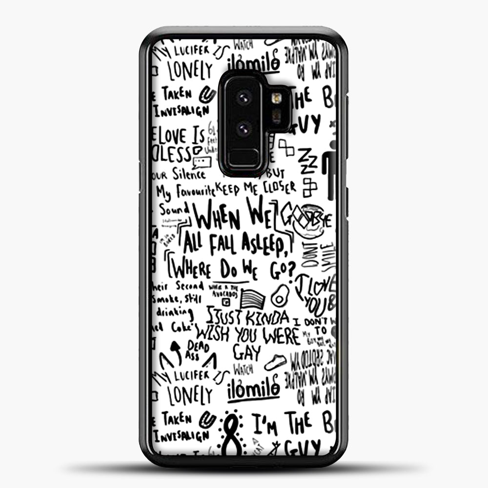 Billie Eilish Lyrics Bad Guy White Samsung Galaxy S9 Plus Case, Black Plastic Case | casedilegna.com
