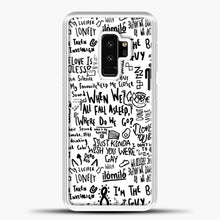 Load image into Gallery viewer, Billie Eilish Lyrics Bad Guy White Samsung Galaxy S9 Plus Case, White Plastic Case | casedilegna.com