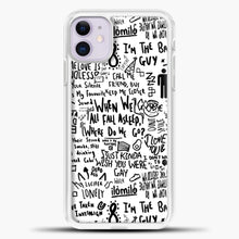 Load image into Gallery viewer, Billie Eilish Lyrics Bad Guy White iPhone 11 Case, White Plastic Case | casedilegna.com