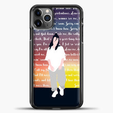 Load image into Gallery viewer, Billie Eilish Lyrics Colorfull iPhone 11 Pro Max Case , Black Plastic Case | casedilegna.com