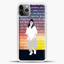 Load image into Gallery viewer, Billie Eilish Lyrics Colorfull iPhone 11 Pro Max Case , White Plastic Case | casedilegna.com