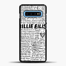 Load image into Gallery viewer, Billie Eilish Lyrics White Samsung Galaxy S10 Case, Black Plastic Case | casedilegna.com