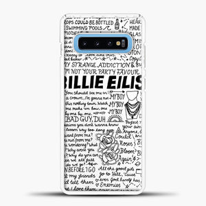 Billie Eilish Lyrics White Samsung Galaxy S10 Case, White Plastic Case | casedilegna.com