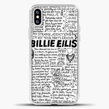 Load image into Gallery viewer, Billie Eilish Lyrics White iPhone XS Case, White Plastic Case | casedilegna.com