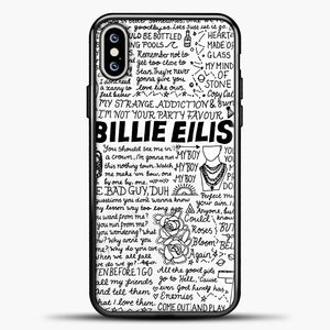 Billie Eilish Lyrics White iPhone XS Max Case, Black Plastic Case | casedilegna.com