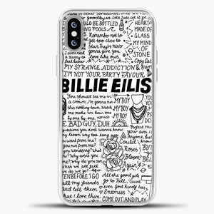 Billie Eilish Lyrics White iPhone XS Max Case, White Plastic Case | casedilegna.com