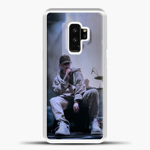 Load image into Gallery viewer, Billie Eilish Perfomance Samsung Galaxy S9 Case, White Plastic Case | casedilegna.com