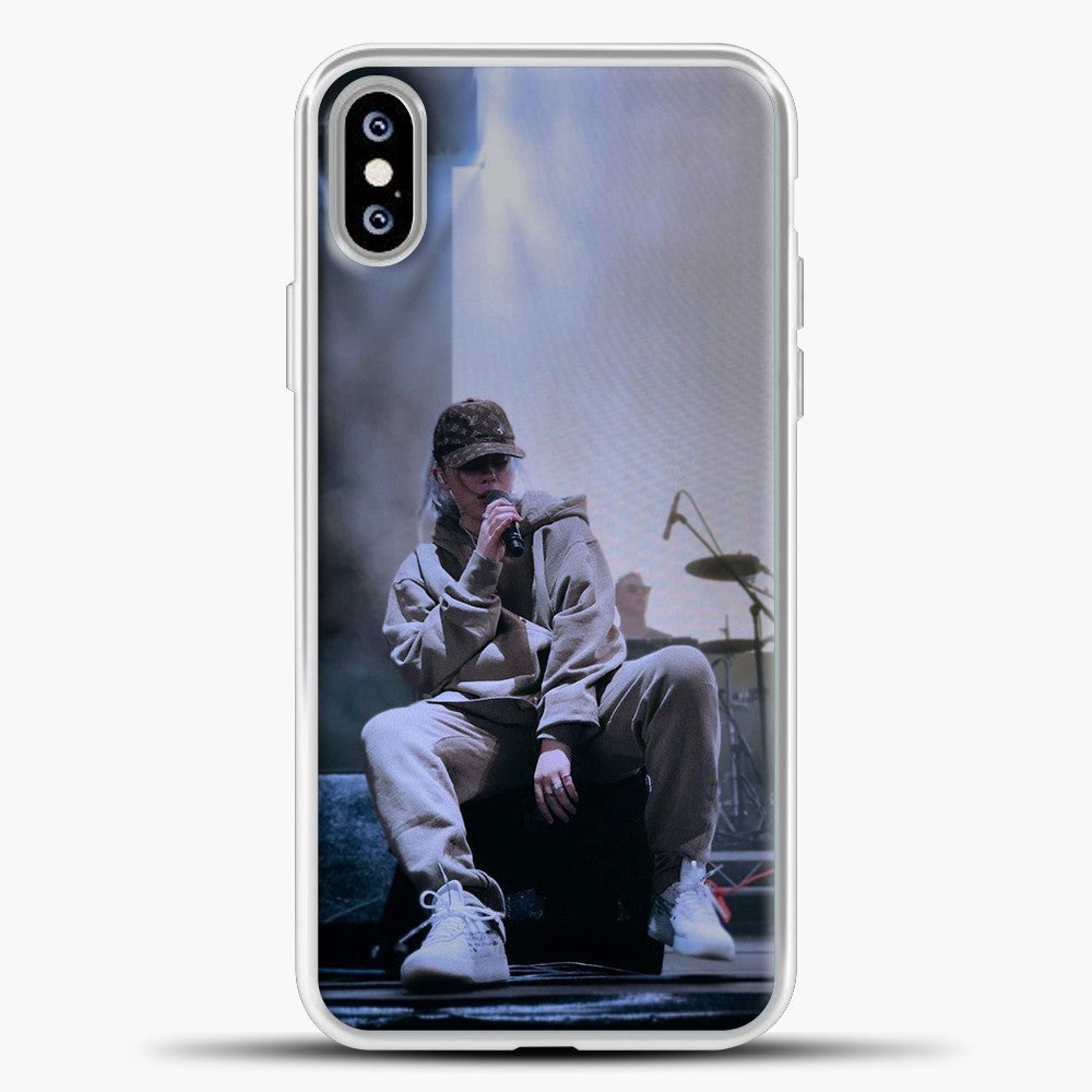 Billie Eilish Perfomance iPhone XS Max Case, White Plastic Case | casedilegna.com