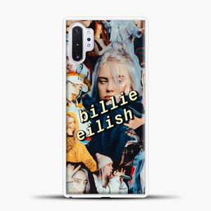 Billie Eilish Photo Samsung Galaxy Note 10 Plus Case, White Plastic Case | casedilegna.com