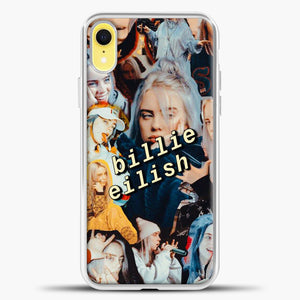 Billie Eilish Photo iPhone XR Case, White Plastic Case | casedilegna.com