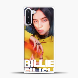 Billie Eilish Photo Pattern Samsung Galaxy Note 10 Case, White Plastic Case | casedilegna.com
