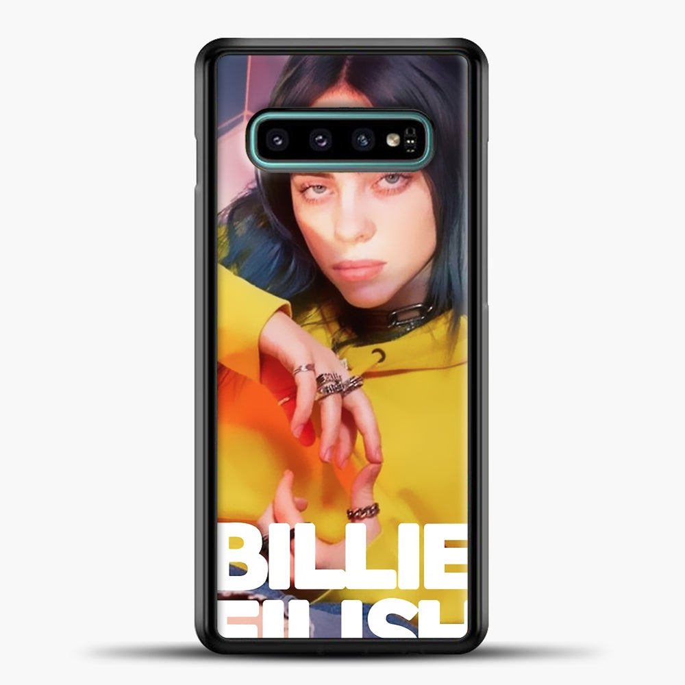 Billie Eilish Photo Pattern Samsung Galaxy S10e Case, Black Plastic Case | casedilegna.com