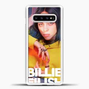 Billie Eilish Photo Pattern Samsung Galaxy S10e Case, White Plastic Case | casedilegna.com