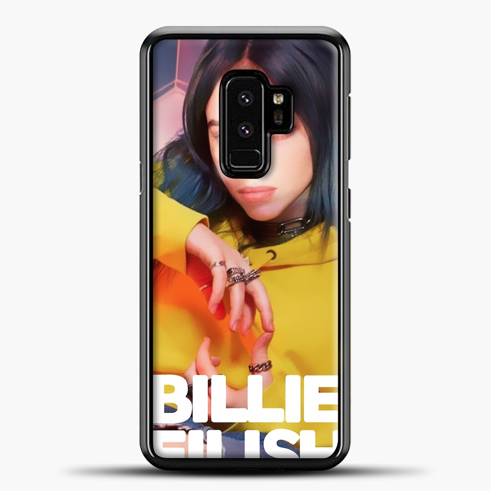Billie Eilish Photo Pattern Samsung Galaxy S9 Plus Case, Black Plastic Case | casedilegna.com