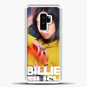 Billie Eilish Photo Pattern Samsung Galaxy S9 Plus Case, White Plastic Case | casedilegna.com