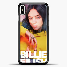 Load image into Gallery viewer, Billie Eilish Photo Pattern iPhone X Case, Black Plastic Case | casedilegna.com