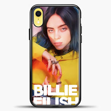 Load image into Gallery viewer, Billie Eilish Photo Pattern iPhone XR Case, Black Plastic Case | casedilegna.com
