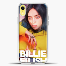 Load image into Gallery viewer, Billie Eilish Photo Pattern iPhone XR Case, White Plastic Case | casedilegna.com