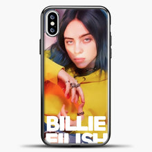 Load image into Gallery viewer, Billie Eilish Photo Pattern iPhone XS Case, Black Plastic Case | casedilegna.com