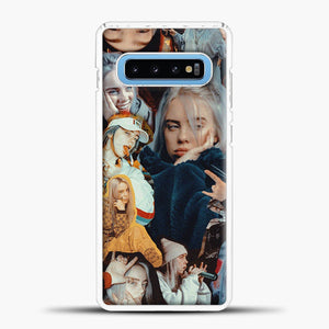 Billie Eilish Photos Samsung Galaxy S10 Case, White Plastic Case | casedilegna.com