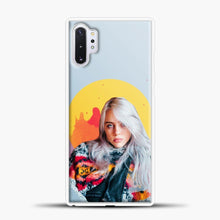 Load image into Gallery viewer, Billie Eilish Pink Splash Samsung Galaxy Note 10 Plus Case, White Plastic Case | casedilegna.com
