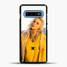 Load image into Gallery viewer, Billie Eilish Rear View Samsung Galaxy S10 Case, Black Plastic Case | casedilegna.com