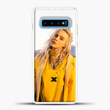 Load image into Gallery viewer, Billie Eilish Rear View Samsung Galaxy S10 Case, White Plastic Case | casedilegna.com