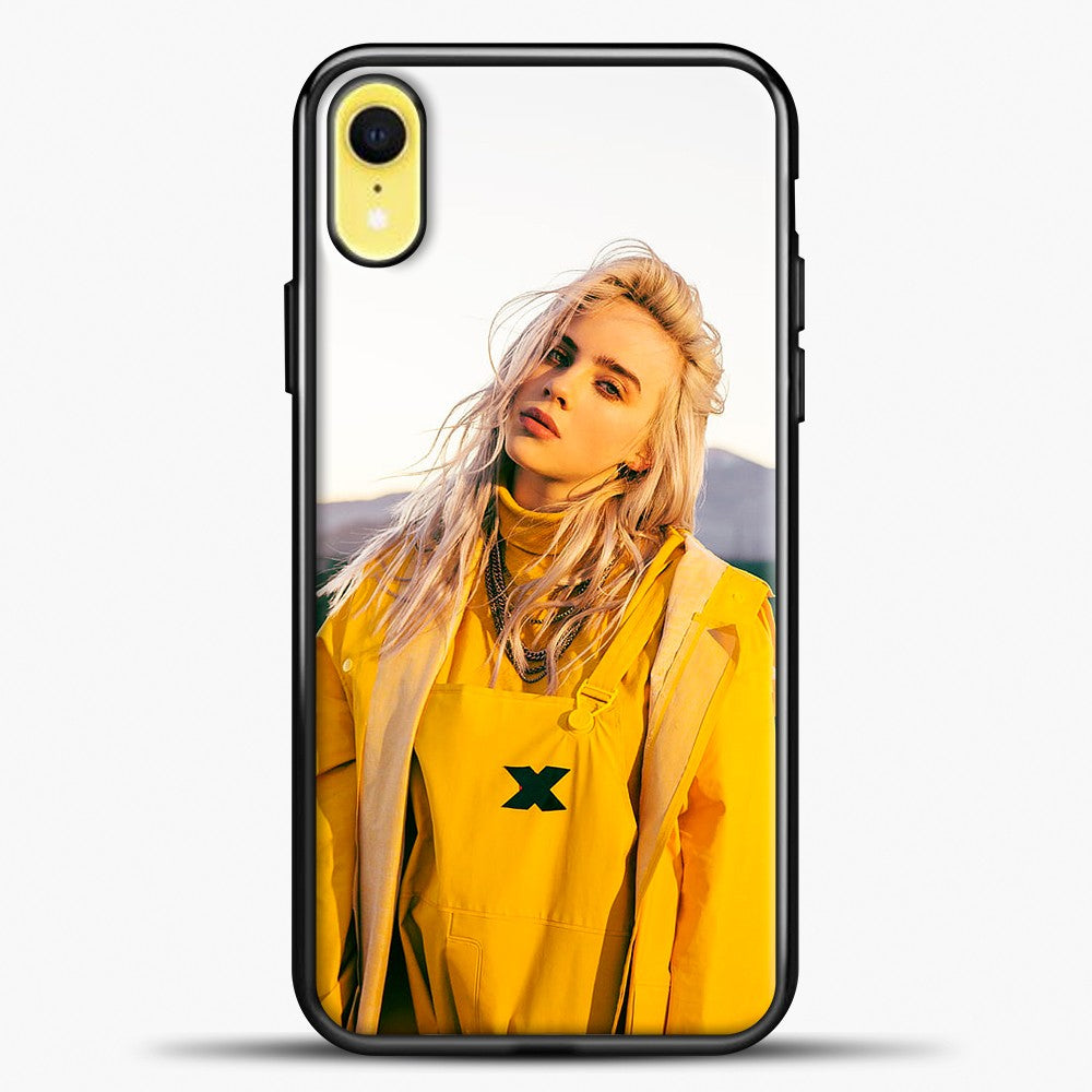Billie Eilish Rear View iPhone XR Case, Black Plastic Case | casedilegna.com