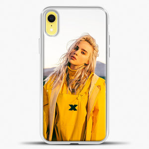 Billie Eilish Rear View iPhone XR Case, White Plastic Case | casedilegna.com