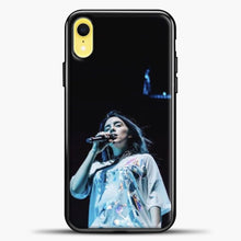 Load image into Gallery viewer, Billie Eilish Singing iPhone XR Case, Black Plastic Case | casedilegna.com