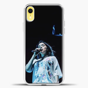 Billie Eilish Singing iPhone XR Case, White Plastic Case | casedilegna.com