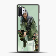 Load image into Gallery viewer, Billie Eilish Sit Tosca Background Samsung Galaxy Note 10 Plus Case, Black Plastic Case | casedilegna.com