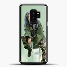 Load image into Gallery viewer, Billie Eilish Sit Tosca Background Samsung Galaxy S9 Plus Case, Black Plastic Case | casedilegna.com