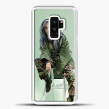 Load image into Gallery viewer, Billie Eilish Sit Tosca Background Samsung Galaxy S9 Plus Case, White Plastic Case | casedilegna.com