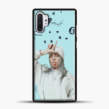 Load image into Gallery viewer, Billie Eilish Space Blue Samsung Galaxy Note 10 Plus Case, Black Plastic Case | casedilegna.com