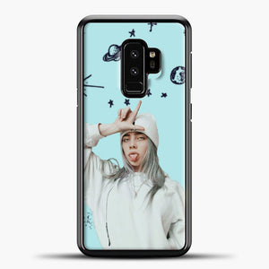 Billie Eilish Space Blue Samsung Galaxy S9 Case, Black Plastic Case | casedilegna.com