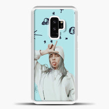 Load image into Gallery viewer, Billie Eilish Space Blue Samsung Galaxy S9 Case, White Plastic Case | casedilegna.com