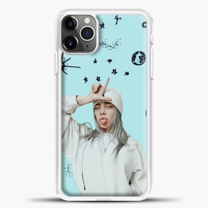 Billie Eilish Space Blue iPhone 11 Pro Max Case, White Plastic Case | casedilegna.com