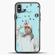 Load image into Gallery viewer, Billie Eilish Space Blue iPhone XS Max Case, Black Plastic Case | casedilegna.com