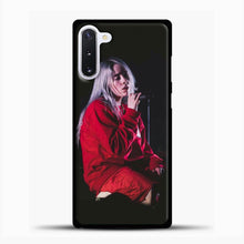 Load image into Gallery viewer, Billie Eilish The Singing Samsung Galaxy Note 10 Case, Black Plastic Case | casedilegna.com