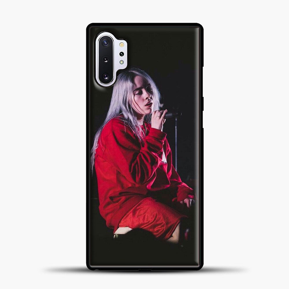 Billie Eilish The Singing Samsung Galaxy Note 10 Plus Case, Black Plastic Case | casedilegna.com
