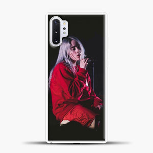Billie Eilish The Singing Samsung Galaxy Note 10 Plus Case, White Plastic Case | casedilegna.com