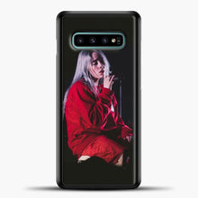 Load image into Gallery viewer, Billie Eilish The Singing Samsung Galaxy S10e Case, Black Plastic Case | casedilegna.com